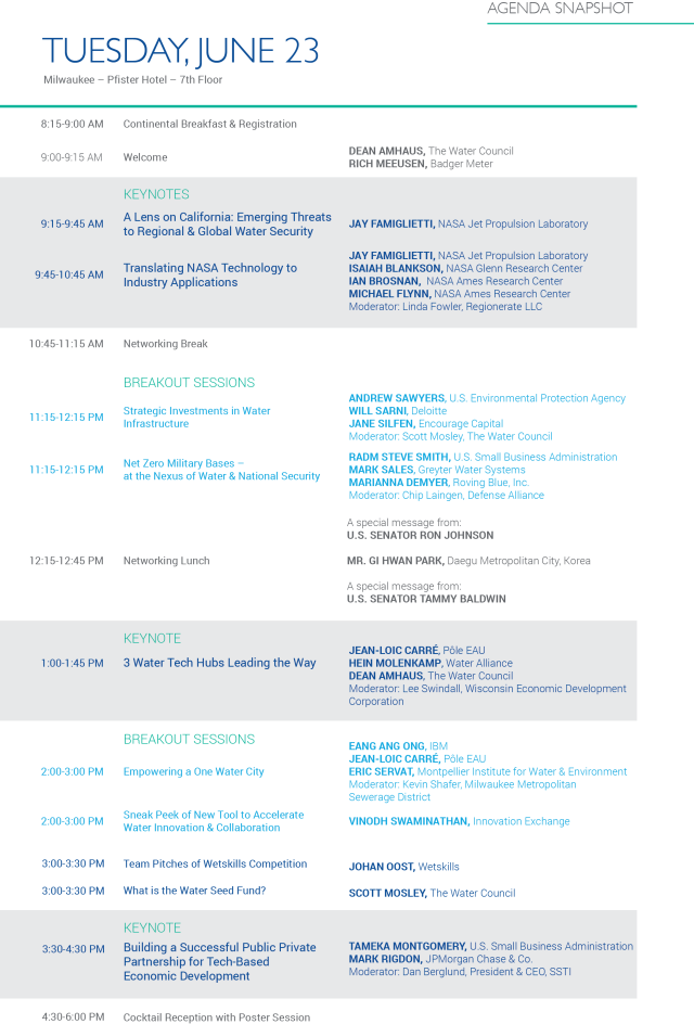 Snap shot Agenda_WaterSummit 2015_DAY 1g